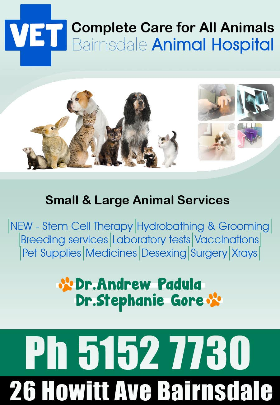 Конкурсная заявка №14 для Graphic Design for Bairnsdale Animal Hospital