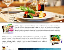 #30 cho Web site mockup for restaurant and bar ( small site ) bởi shajib3006