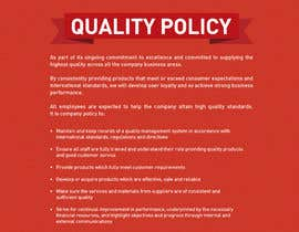 #100 for Design a Flyer for a Quality Policy Document af samazran