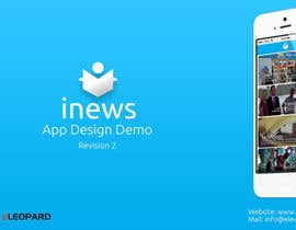 #24 for Design the User interface for a Mobile News App af eleopardstudios