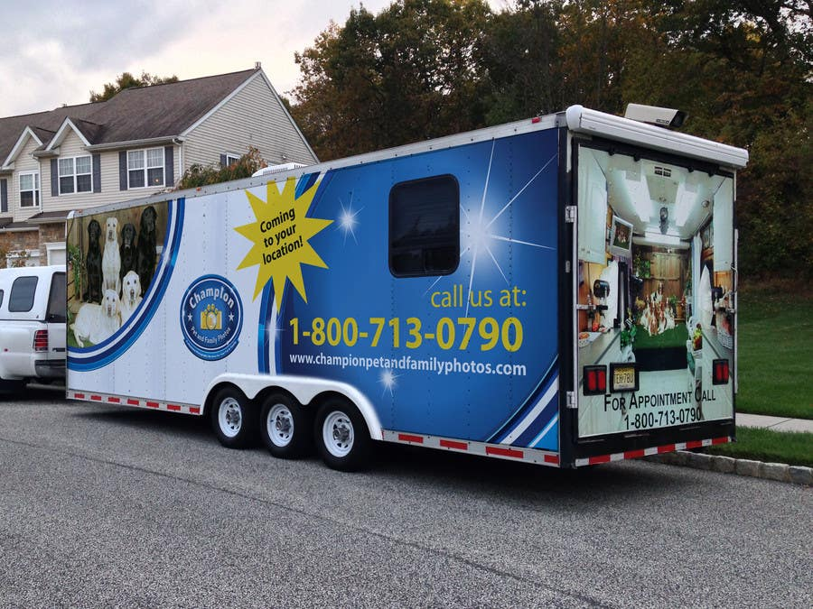 Contest Entry #                                        15                                      for                                         Design A 3 Side Trailer Wrap for Mobile Pet and Family Photography