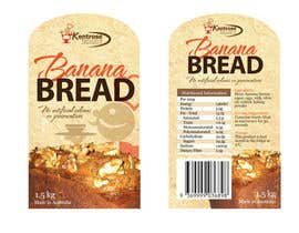 #88 для Banana bread packaging label design от eliespinas