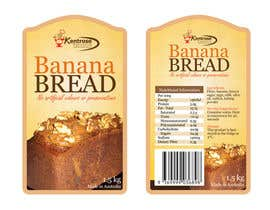 #87 для Banana bread packaging label design от eliespinas