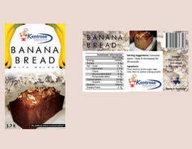 #63 for Banana bread packaging label design af saikodelicat