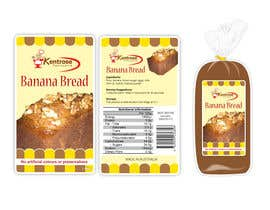 #90 for Banana bread packaging label design af tcclemente