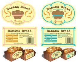 #23 for Banana bread packaging label design af Ani032
