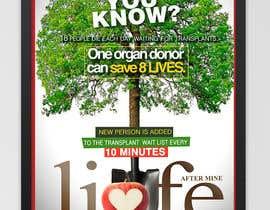 Nro 40 kilpailuun graphic design. poster carry idea of organ donation , käyttäjältä CandyHorse