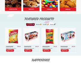 webmastersud tarafından Design creative website mock up for a snacks shop için no 39
