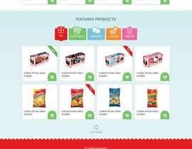 creative223 tarafından Design creative website mock up for a snacks shop için no 30