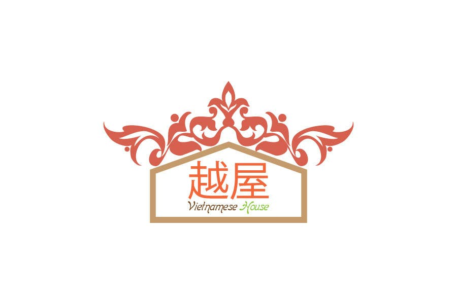 "#88 for Design a Logo for Vietnamese restaurant named ""越屋 Vietnamese House"" by sagorak47"