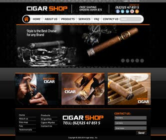 #25 for Need Design Mock Up for Cigar Shop af xpertsart