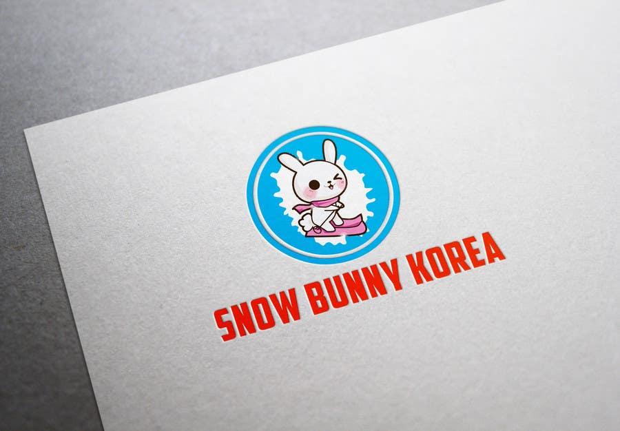 Penyertaan Peraduan #                                        6                                      untuk                                         Design a Logo for Snow Bunny Korea