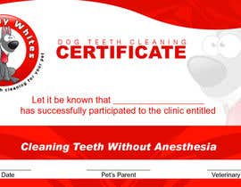 #52 for Design A Dog Teeth Cleaning Certificate by samzter21