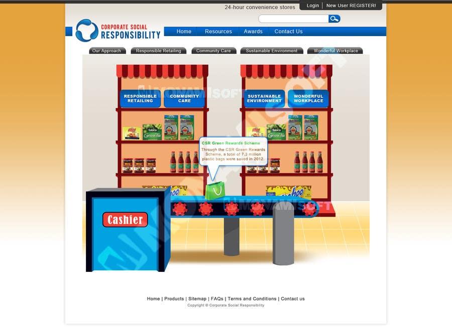 Konkurrenceindlæg #57 for Design mockups for a Corporate Social Responsibility Website