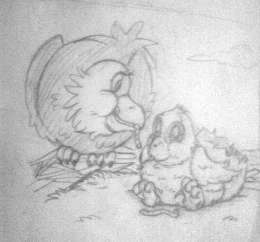#9 for Illustrating 3 pictures of an eagle baby by v9s2