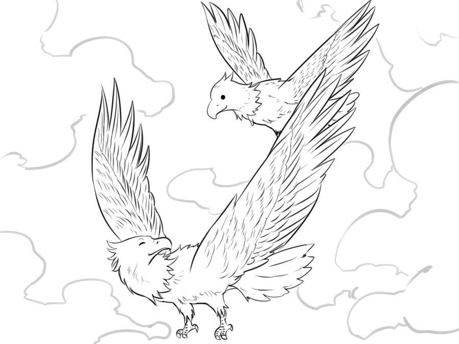 #16 for Illustrating 3 pictures of an eagle baby by momotaros
