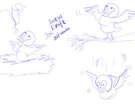 #3 para Illustrating 3 pictures of an eagle baby por ysfworks
