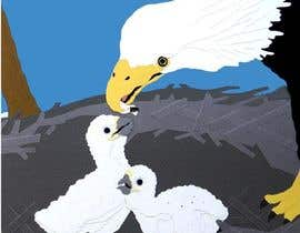 #34 para Illustrating 3 pictures of an eagle baby por hitusoni1992