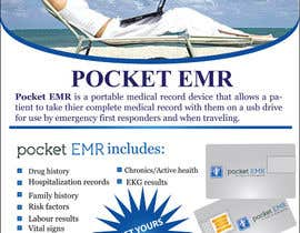 #26 para Flyer Design for Pocket EMR por azolaman