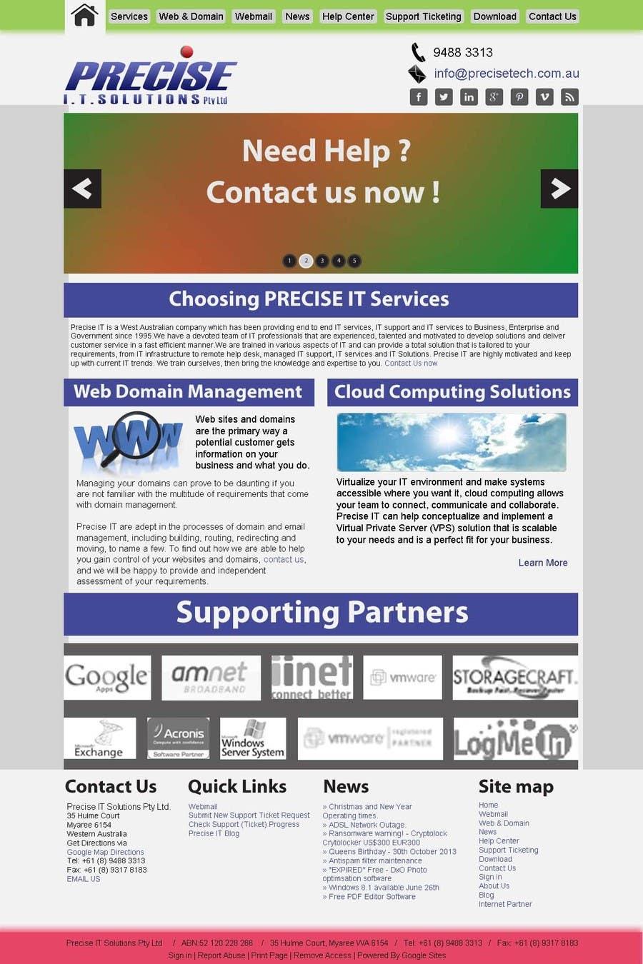 Contest Entry #9 for Design a Website Mockup for Precisetech.com.au