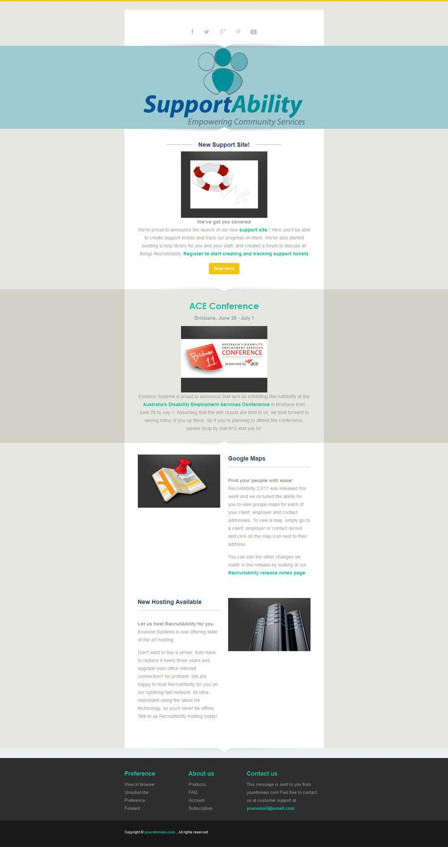 entry 5 by ashikimran for design 2 mailchimp responsive email