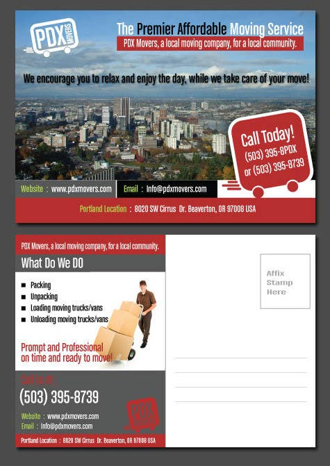contest entry 32 for design a flyer for a moving company