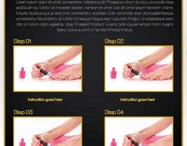 #2 para Design a flyer for a nail product with a four step process. por blackd51th