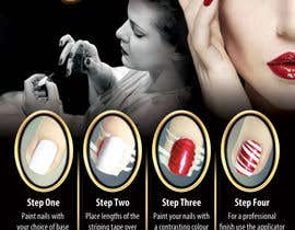 #9 for Design a flyer for a nail product with a four step process. by dalizon