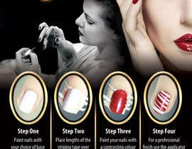 #11 para Design a flyer for a nail product with a four step process. por dalizon