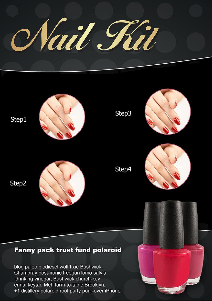 Proposition n°10 du concours Design a flyer for a nail product with a four step process.