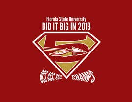 #9 for Design a T-Shirt for FSU BCS Champs af mMm24hours