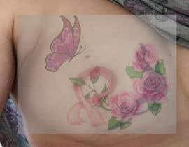 Nro 23 kilpailuun Design a tattoo to cover breast cancer surgery scars käyttäjältä carilon