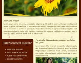 nº 32 pour Photoshop Design for a dummy newsletter par creativeideas83