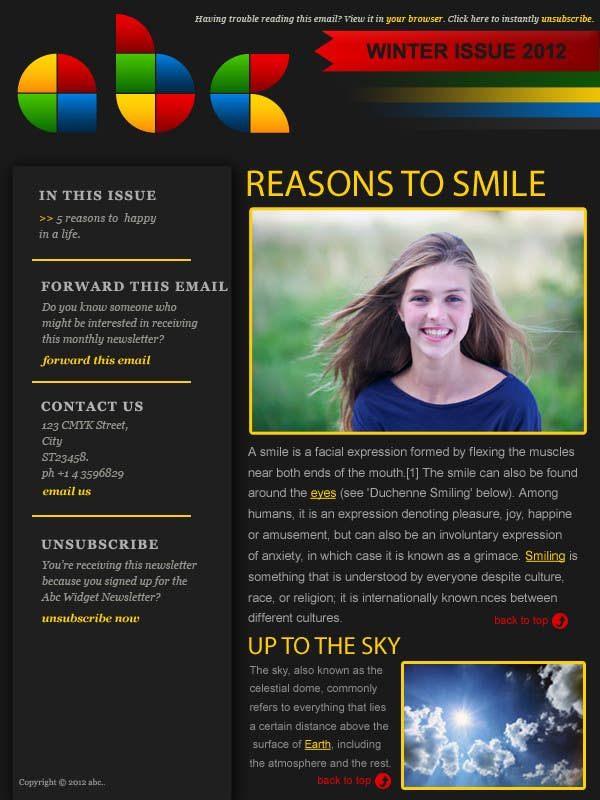 #25 for Photoshop Design for a dummy newsletter by Anamh