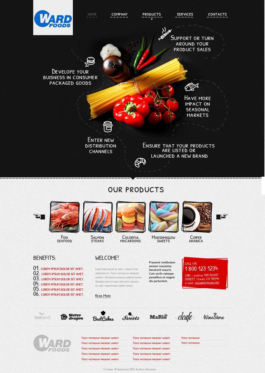Inscrição nº 3 do Concurso para Design a Website Mockup for a Wholesale food distributor