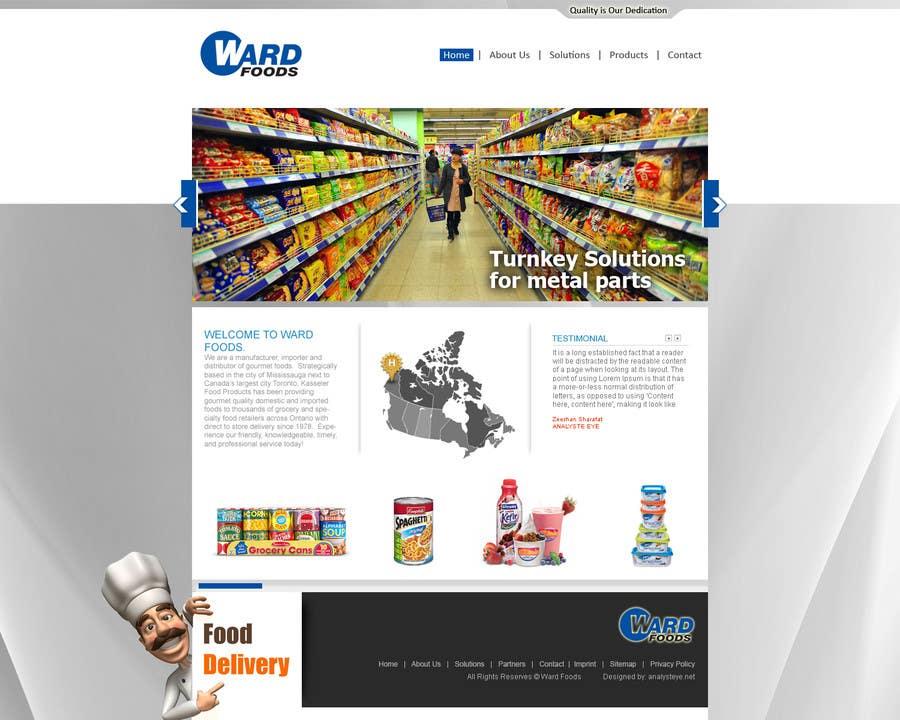 Kilpailutyö #28 kilpailussa Design a Website Mockup for a Wholesale food distributor