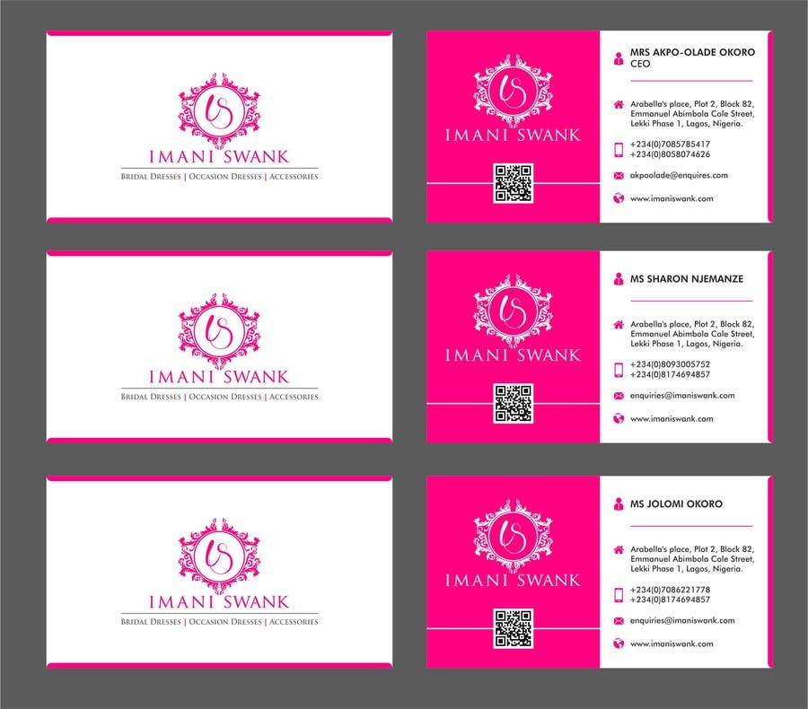Entry 45 by atuljparmar for business card for a bridal store contest entry 45 for business card for a bridal store reheart Images