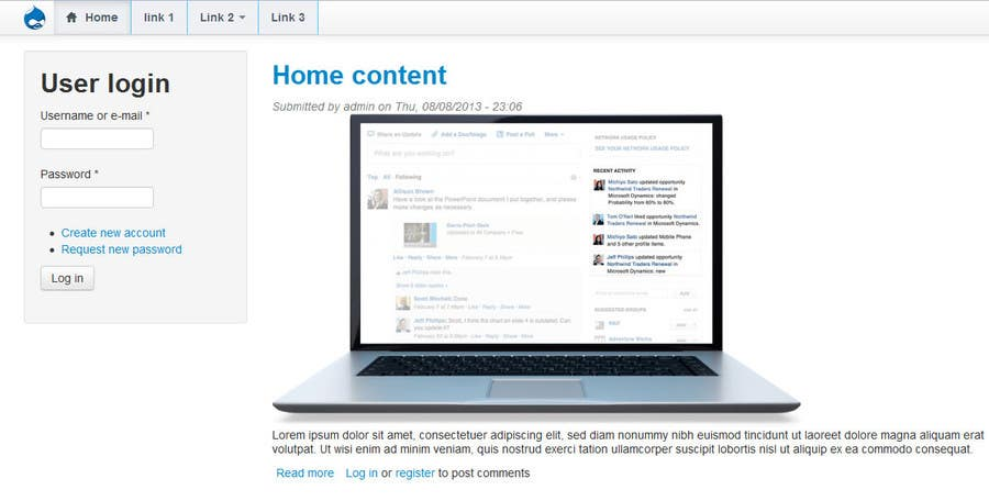 Proposition n°21 du concours Drupal - Redirect user after login to Panels page