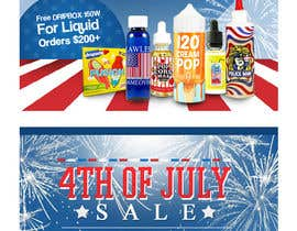 #16 for Email Marketing Banner For July 4th (US Holiday) by ClaudiuTrusca