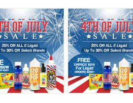 #21 for Email Marketing Banner For July 4th (US Holiday) by ClaudiuTrusca