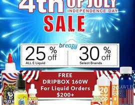 satishvik2020 tarafından Email Marketing Banner For July 4th (US Holiday) için no 27
