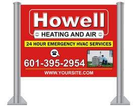 Guru2014 tarafından Corel draw Design -  Yard Sign for HVAC company için no 9