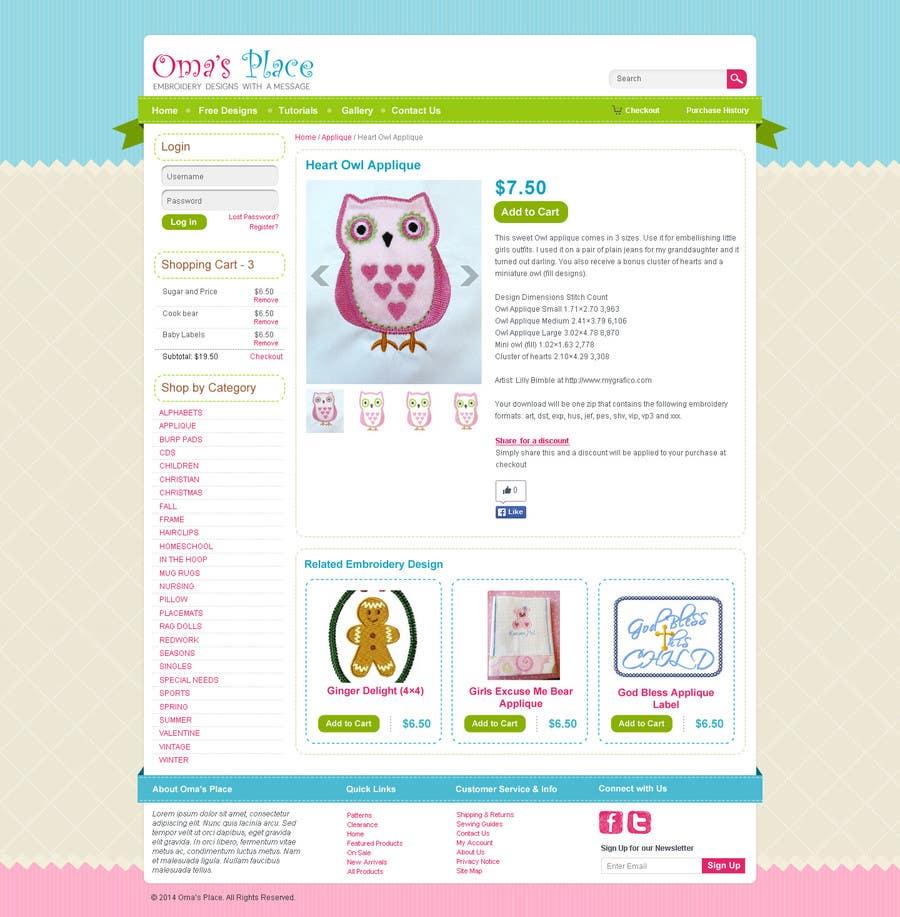 Kilpailutyö #21 kilpailussa Design a Website Mockup for Oma's Place.com