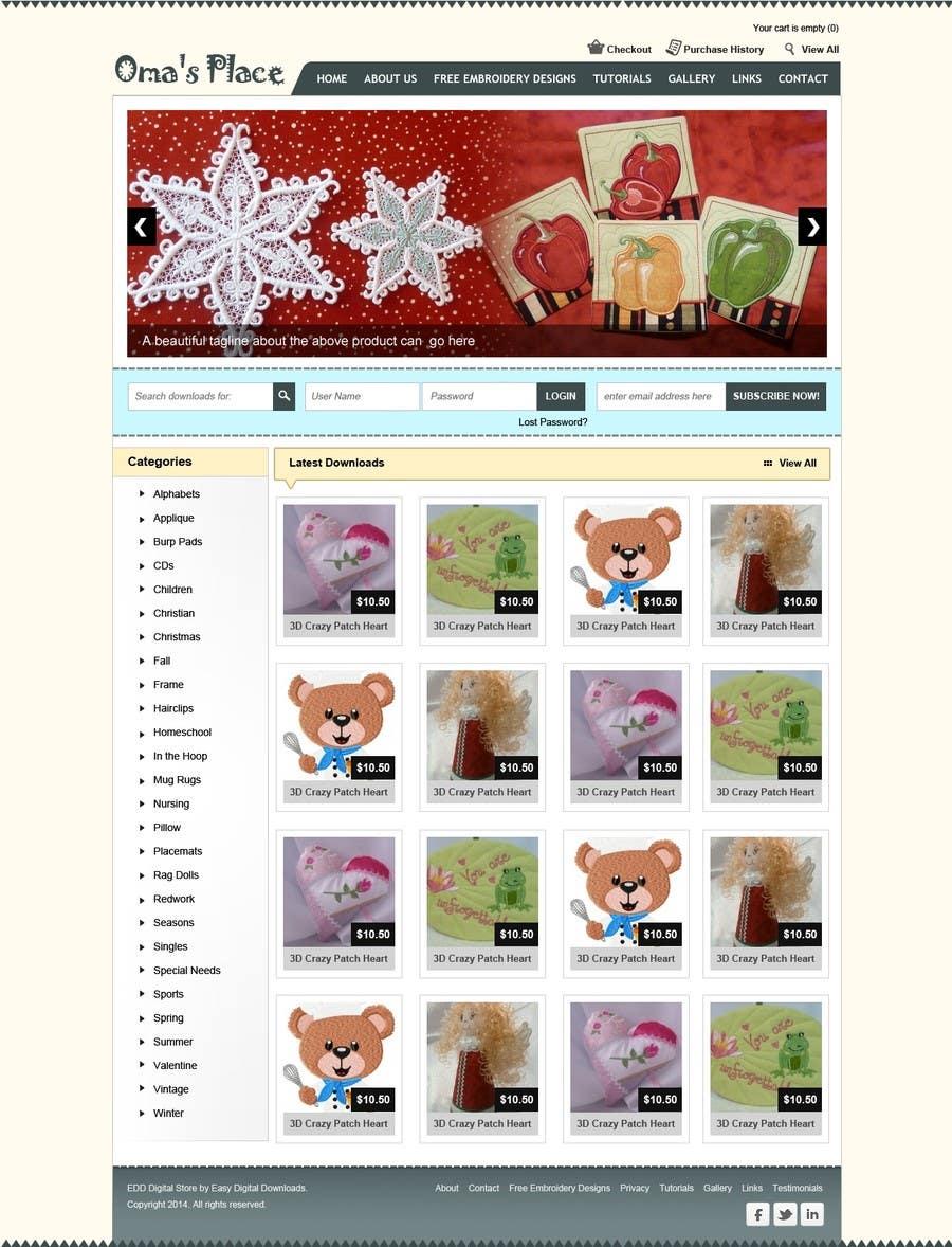 Kilpailutyö #15 kilpailussa Design a Website Mockup for Oma's Place.com
