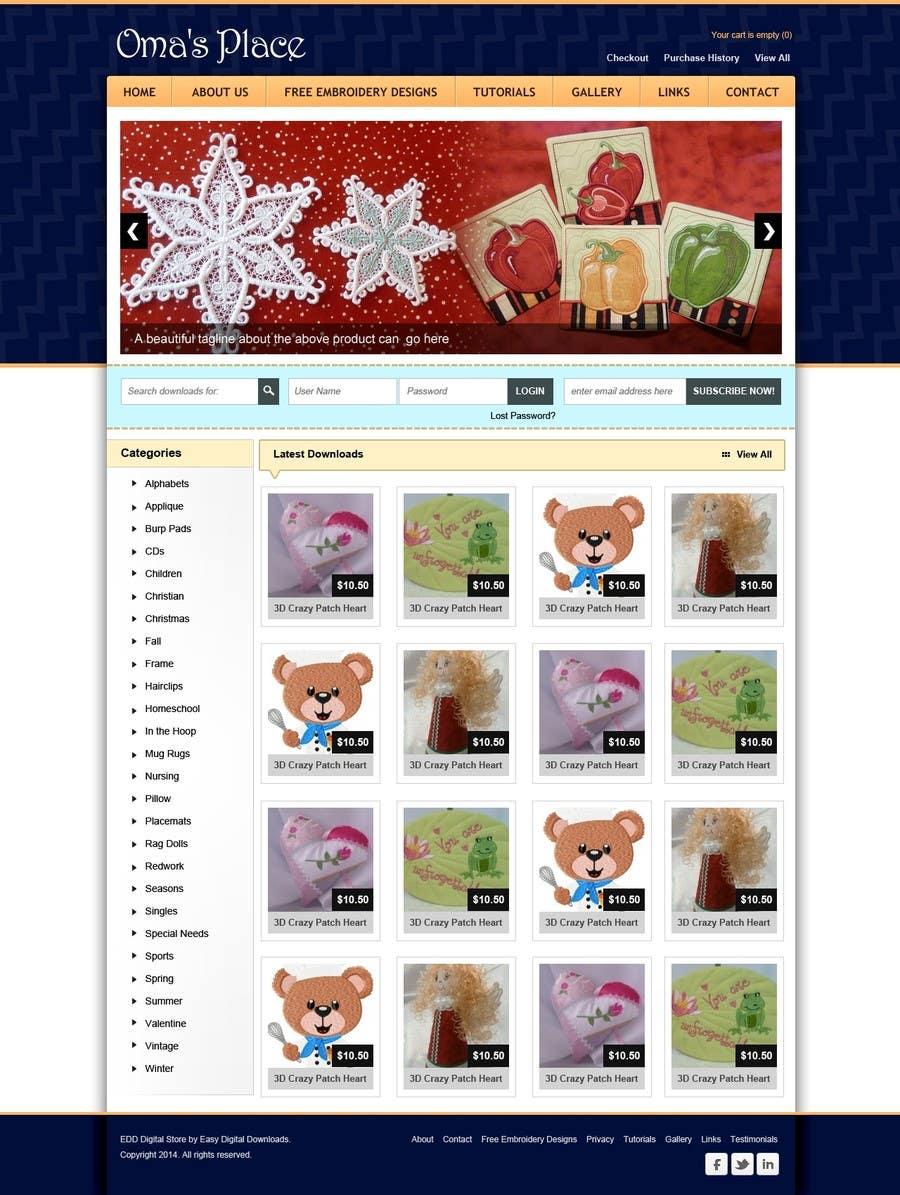 Kilpailutyö #18 kilpailussa Design a Website Mockup for Oma's Place.com