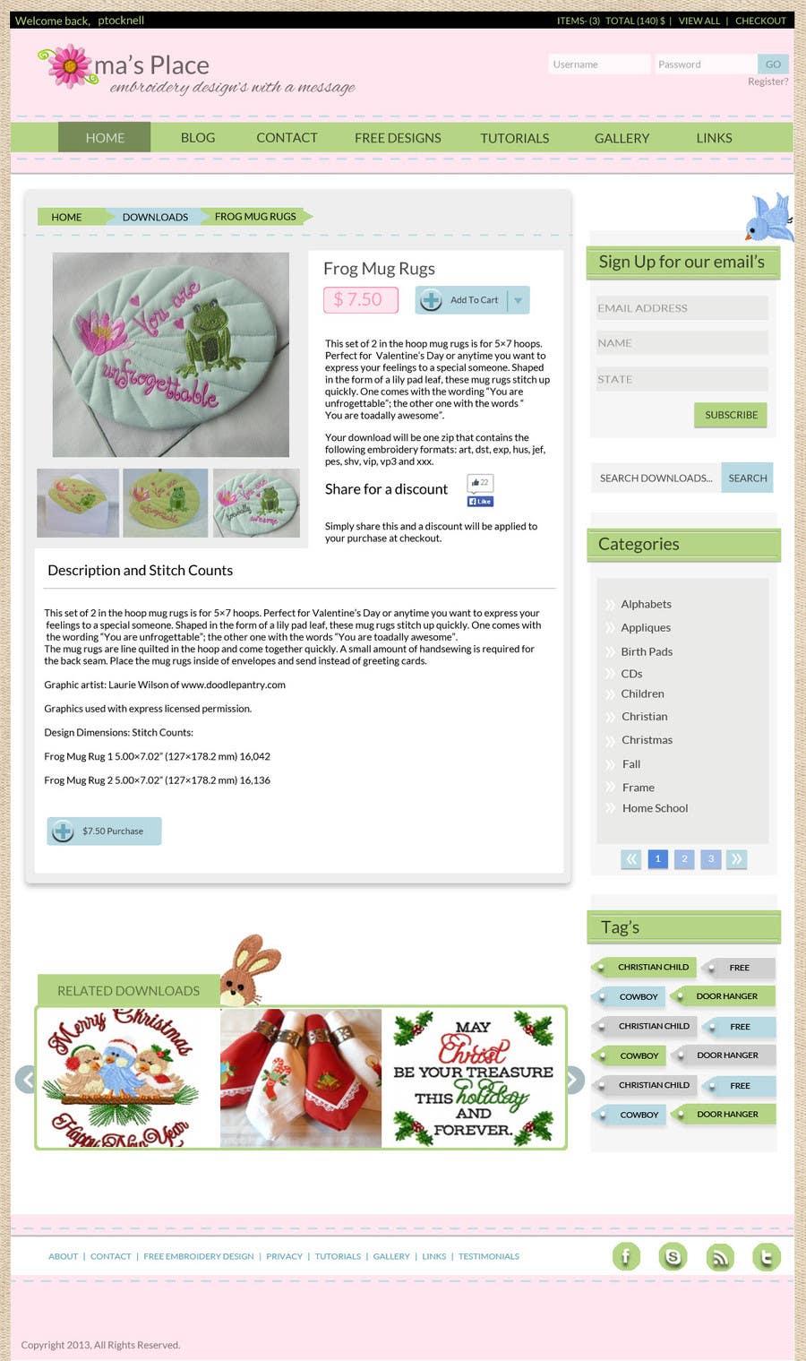 Kilpailutyö #26 kilpailussa Design a Website Mockup for Oma's Place.com