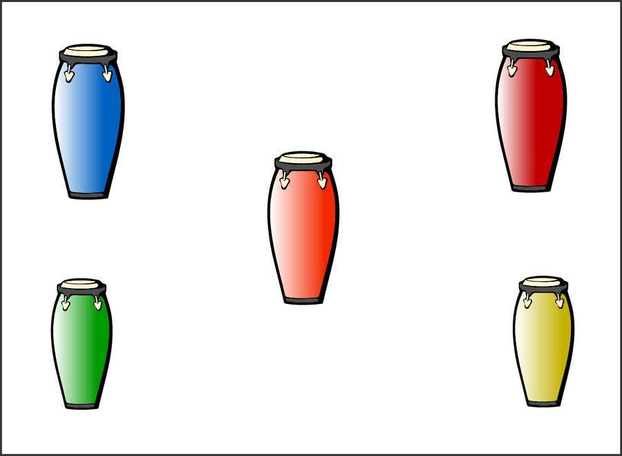 Bài tham dự cuộc thi #25 cho Draw the bongô / Conga contest! - repost