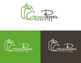 #84 for Design Green Pepper Market Logo by BBdesignstudio