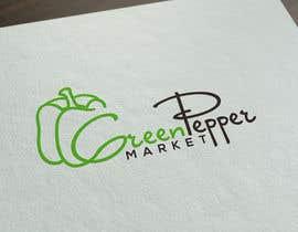BBdesignstudio tarafından Design Green Pepper Market Logo için no 85