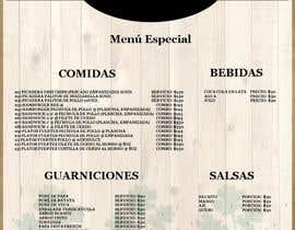 Nro 4 kilpailuun Necesito diseñar el Menú de mi restaurante. käyttäjältä YENJER